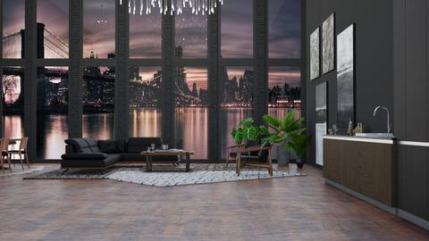Industrial Modern - Modern - Living room - by NEVERQUITDESIGNIT