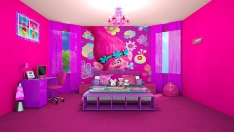 Trolls Movie Theme Room - Modern - Kids room - by creato