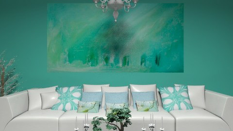 Turquoise  - Minimal - Living room - by deleted_1566988695_Saharasaraharas