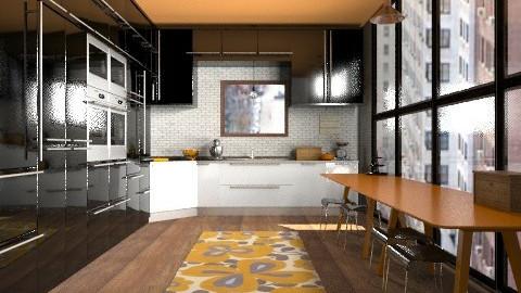 Orange Kitchen - Modern - Kitchen - by Rechoppy92