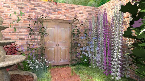 Secret Garden Gate - Vintage - Garden - by starsector