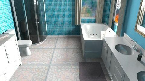 Blue Bathroom - Modern - Bathroom - by oscalora