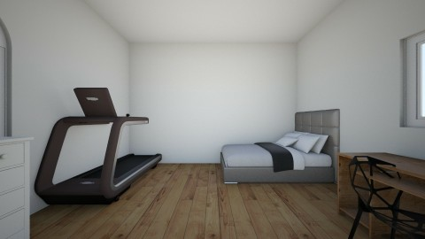 Dream room with Gym area - Modern - Bedroom - by Hattkat