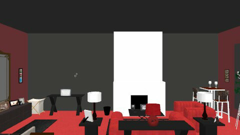 RED N BLACK - Modern - Living room - by clo_bug12