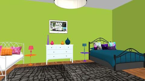twin teen - Bedroom - by jauxier2002
