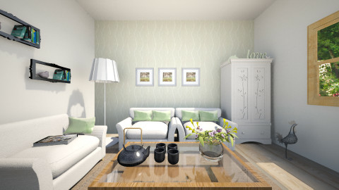 green - Classic - Living room - by KataaRinaa8