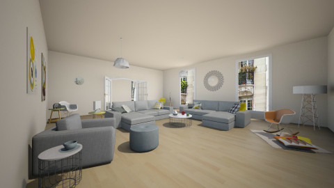 pastel apart #2 - Vintage - Living room - by franciss