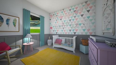 chic baby - Feminine - Kids room - by marble101