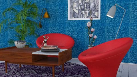 Mid Century corner - Vintage - Living room - by HenkRetro1960