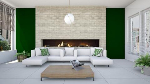 MODERN GREEN SPACE - Living room - by KimAlys