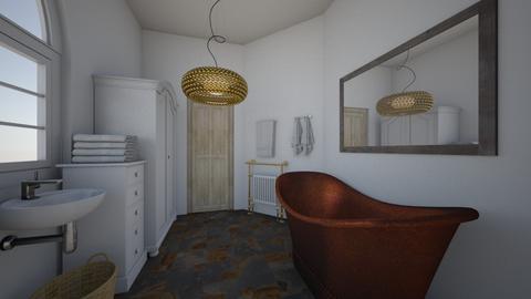white - Modern - Bathroom - by gabrielale