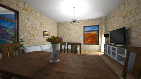 Stone - Classic - Living room - by Twerka