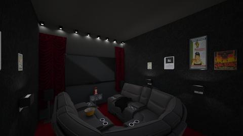 cosy family cinema room - by Yasmin Yusuf