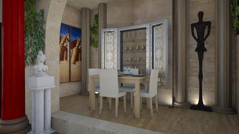 egyptish - Global - Dining room - by donella