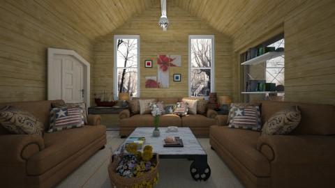 rustic living room - Rustic - Living room - by Brubs Schmitt