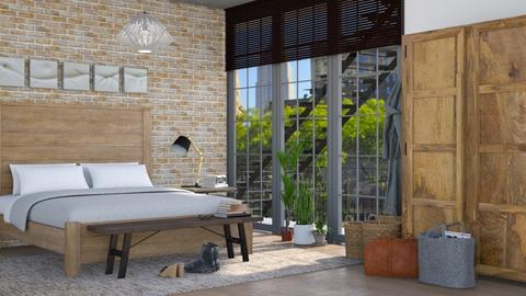 Glass and Brick - Bedroom - by GraceKathryn