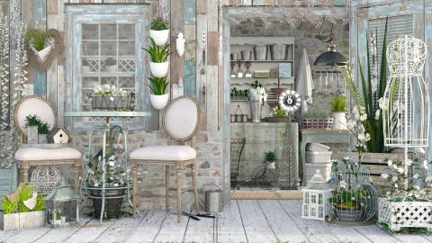 shedquarters - Vintage - Garden - by starsector