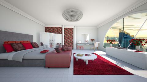 hot red - Bedroom - by Elvira  Elvira