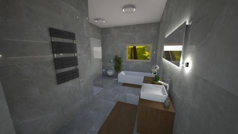 Grayyyy - Bathroom - by Edyta Bak