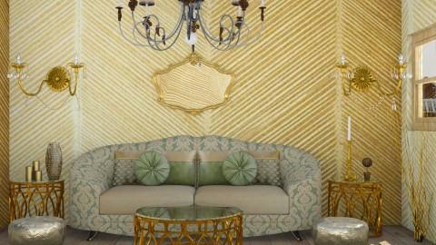 Golden Birds - Vintage - Living room - by gtenenbaum1