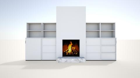 Family Room Fireplace - Living room - by interdecor