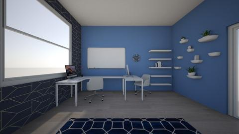 Prity in blue - Minimal - Office - by Viktorija Kvas