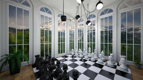 Chess room - by Katiewaldo7