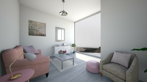 grey wooden floor - Living room - by Kylie Gallant