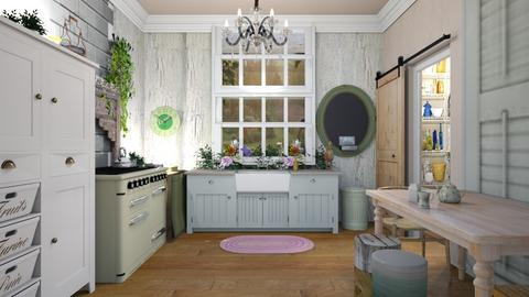 Shabby chic kitchen - Kitchen - by augustmoon
