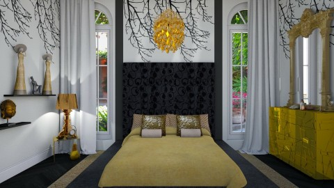 golden slumber - Glamour - Bedroom - by donella