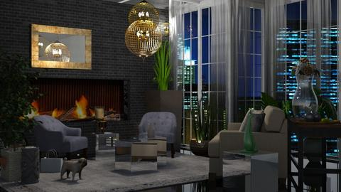 City apartment  - Modern - Living room - by Sue Bonstra