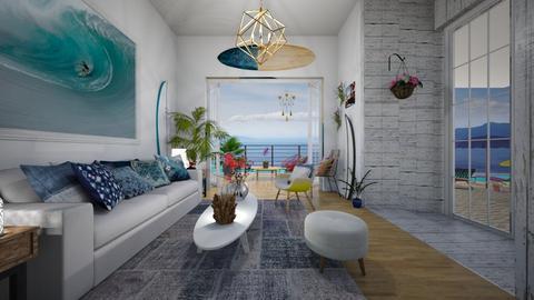 Surf culture living room - by Themis Aline Calcavecchia