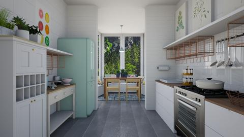 kitchen in a garden - Kitchen - by pingbubbles