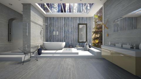 shibori sunlight b - Masculine - Bathroom - by sometimes i am here