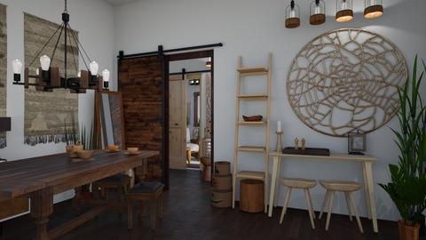 Mixed Lumber - Rustic - Dining room - by _PeaceLady_