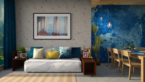 Blue stone - Living room - by Inna_Inas