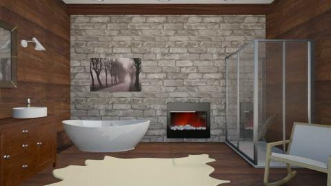 Mountain Bathroom 2 - Rustic - Bathroom - by Zoe_Roomstyler