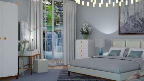 M_ Waterfall - Bedroom - by milyca8