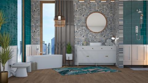 bath  - Modern - Bathroom - by NEVERQUITDESIGNIT