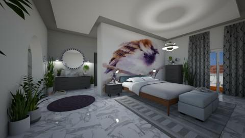 BIRDS - Retro - Bedroom - by matina1976