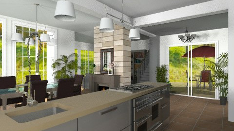 Open plan - Modern - Kitchen - by Bibiche
