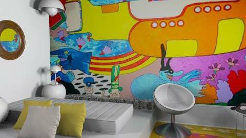 Yellow submarine - Retro - Bedroom - by du321