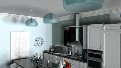 cozinha azul 2 - Eclectic - Kitchen - by bigas