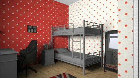 union jack bedroom design - Bedroom - by chelsiemia
