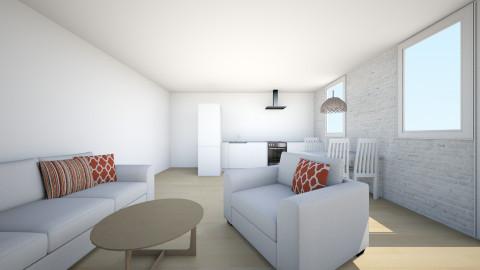kuchnia - Minimal - Living room - by juustyna