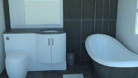 Bathroom with fancy bath tub - Minimal - Bathroom - by agbr01895