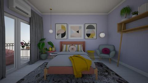 modern playful bedroom  - Modern - Bedroom - by Cristina Stramaglia