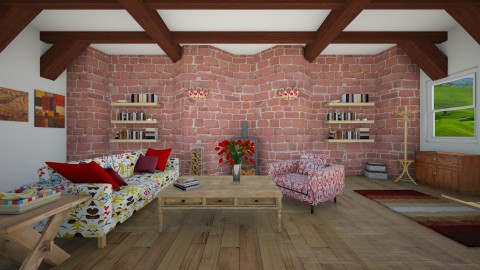 country house - Country - Living room - by Olivia Kerr