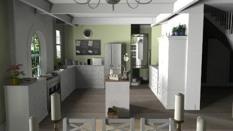 Suburban Kitchen/Diner - Modern - by deleted_1519128424_HeatherInWonderl