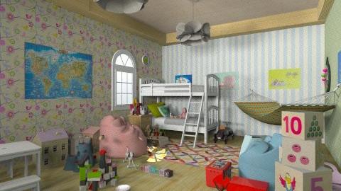 kiddos - Retro - Kids room - by aduropluvia